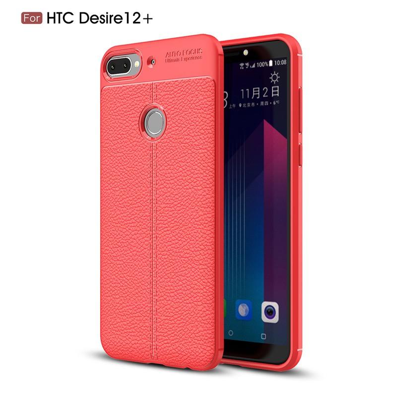 Fecoprior красный Задняя обложка для HTC Desire 12 Plus D12 Plus 12Plus Case