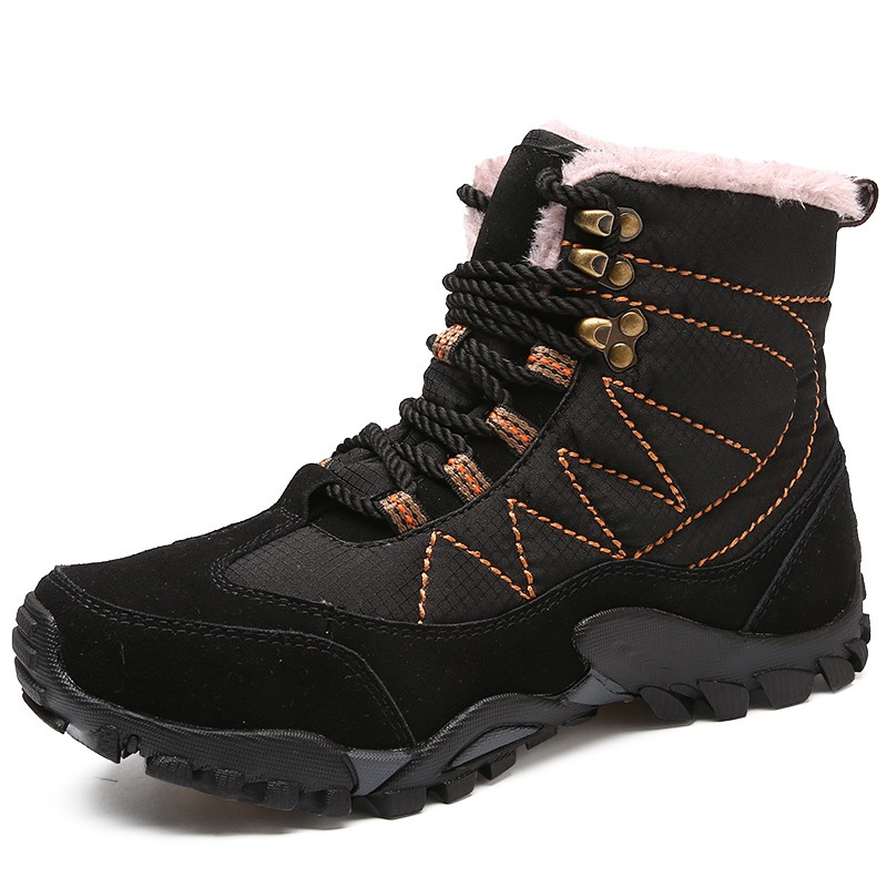 Мужчины повседневная обувь работа обувь сапоги мужчины снег сапоги мужчины luoweikedeng Black 46 фото