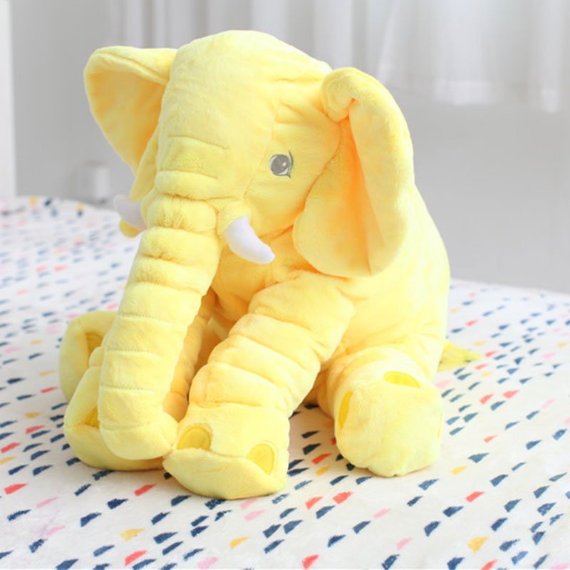 MyMei Жёлтый цвет elephant stuffed toys lovely simulation animal children kids plush doll pillow baby gift for christmas with blanket as gift