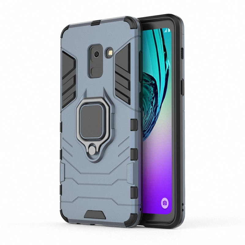 Для Samsung Galaxy A8 2018 Корпус для мобильного телефона с корпусом для мобильного телефона WIERSS Темно-синий для Samsung Galaxy A8 2018 фото