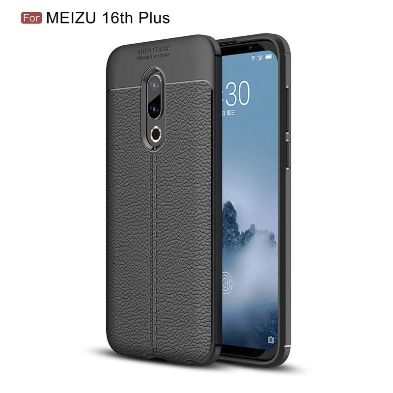 Fecoprior черный Задняя обложка для MEIZU 16-го Plus 16 Plus 4G LTE Snapdragon 845 Case