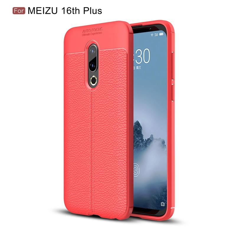 Fecoprior красный Задняя обложка для MEIZU 16-го Plus 16 Plus 4G LTE Snapdragon 845 Case
