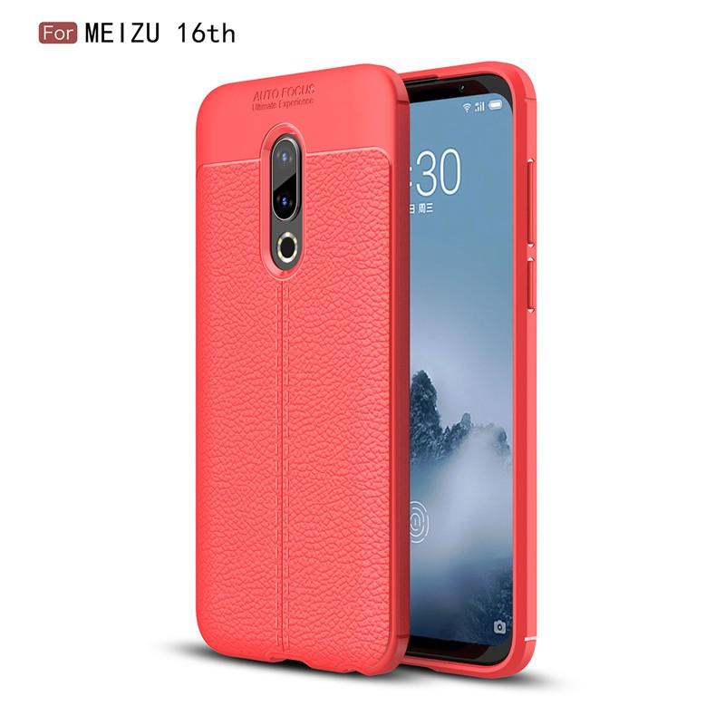Fecoprior красный Задняя обложка для MEIZU 16-й 16 4G Snapdragon 845 Case