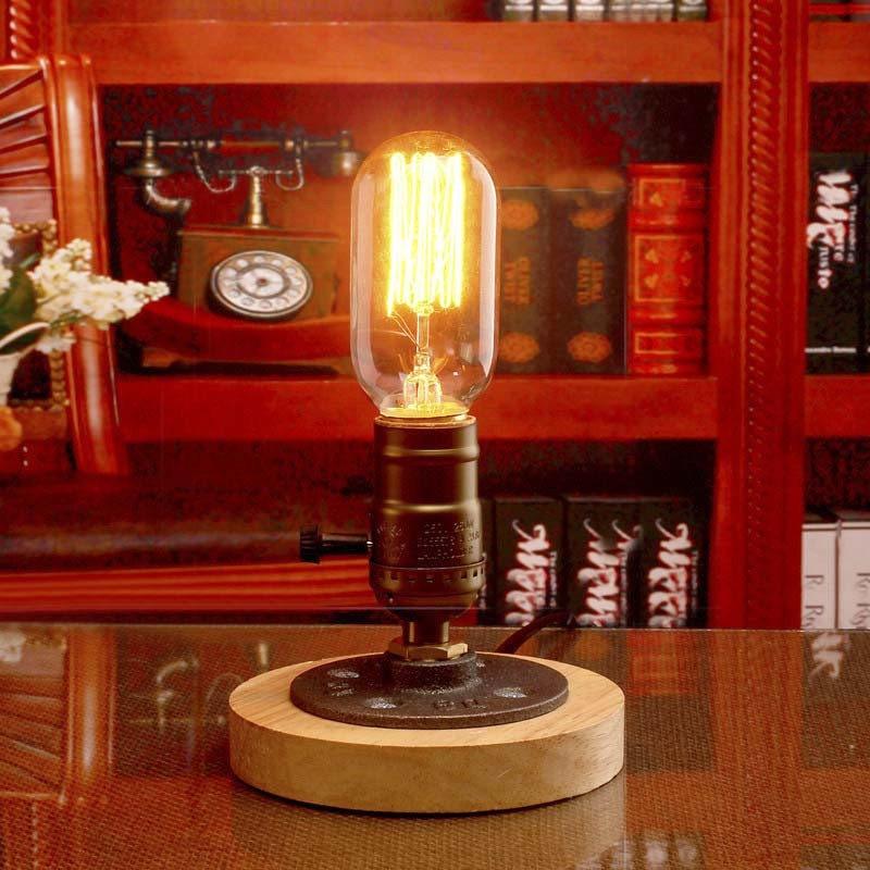 Настольная лампа настольная лампа ночной свет спальня LED настольная лампа устан BAYCHEER Винтажный фото