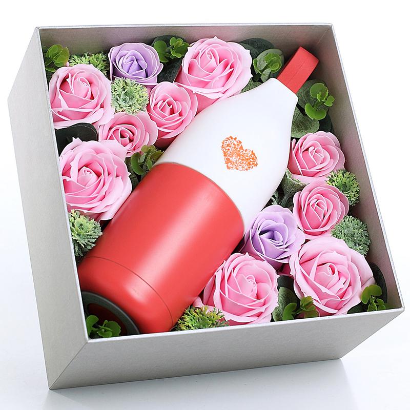 JD Коллекция А «чашка» суб мыло цветок коробка - Классический красный дефолт artiart подарок подарок попугай птичий нож складной нож фруктовый нож синий день рождения день святого валентина подарок творческий подарок