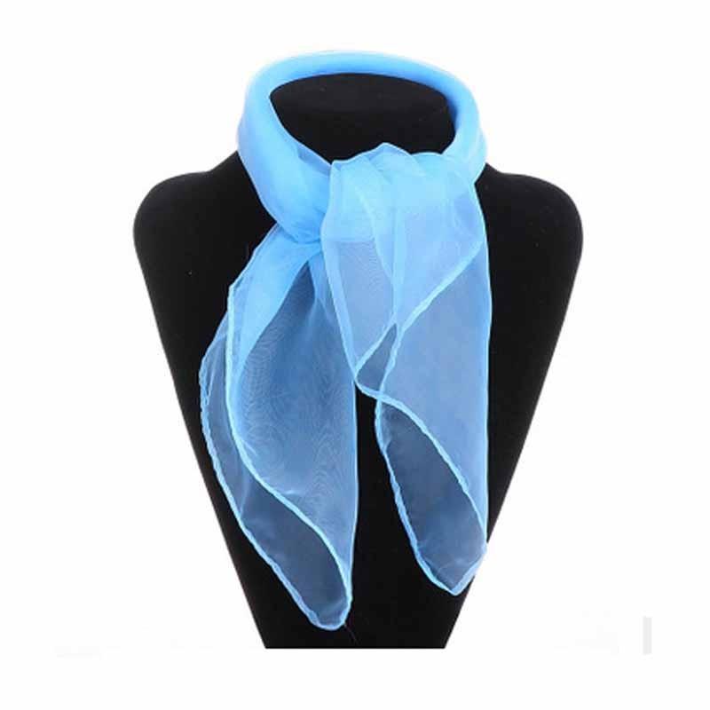 Шея Шарф женщин шифон шарфы антикварная шелковая мода галстук галстук галстук Meihuid Голубое небо фото