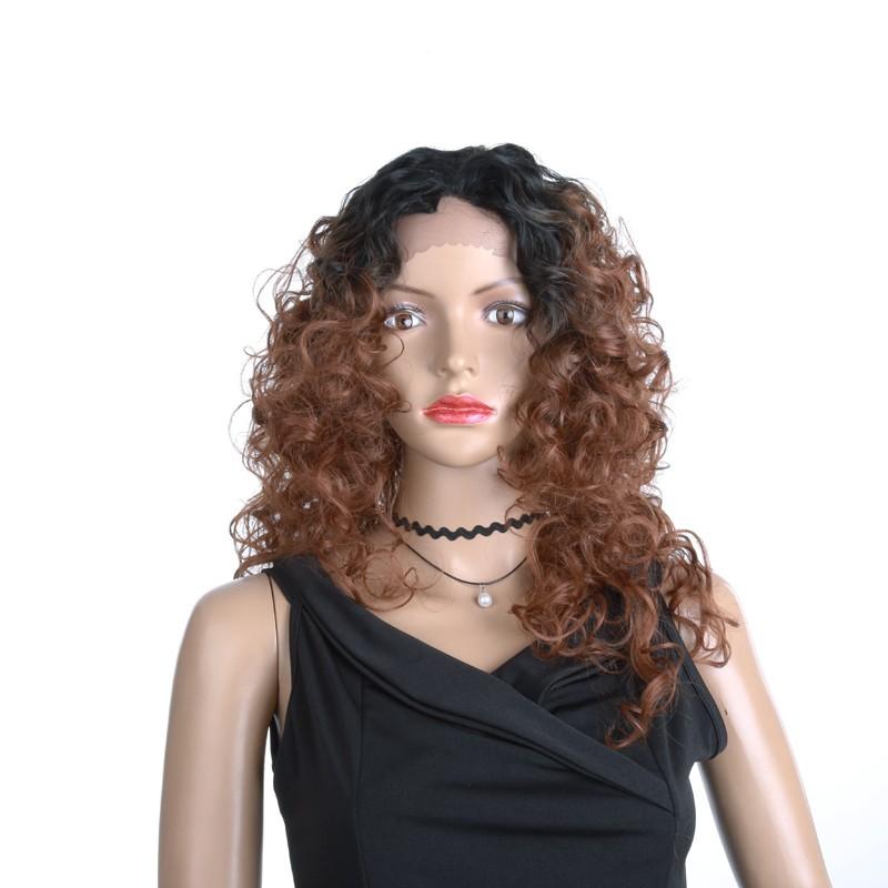 YYONG T1B  30 18 дюймов Синтетические парики волос для черных женщин сплетенные вьющиеся розовые парики