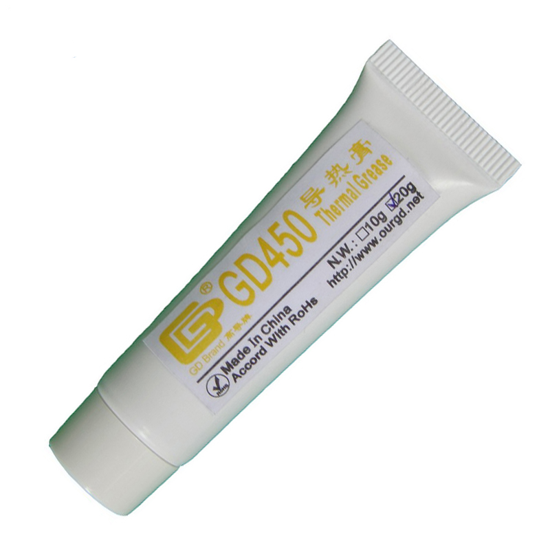 GD gd450 thermal conductive grease paste silicone plaster heat sink compound net weight 1000 grams golden for led cpu cooler cn1000