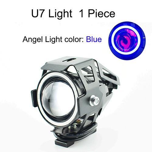 125w Motorcycle LED U7 Headlight Motorbike Spot Headlamp 12V 6500K 3000lm Huiermeimi синий фото