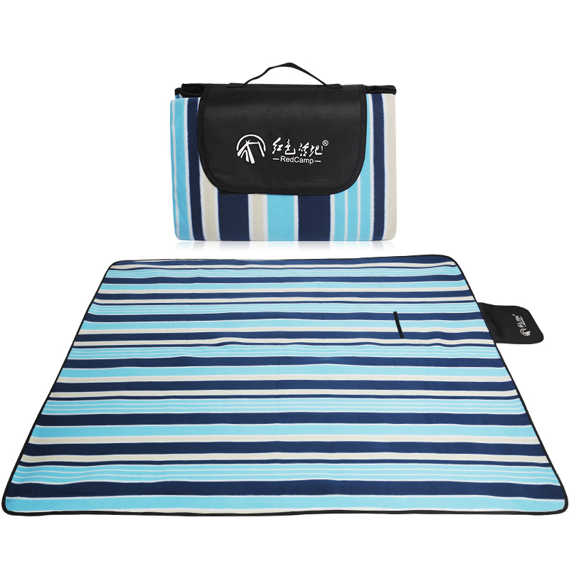JD Коллекция Синие полосы туристический коврик foreign trade 200 150 200 200