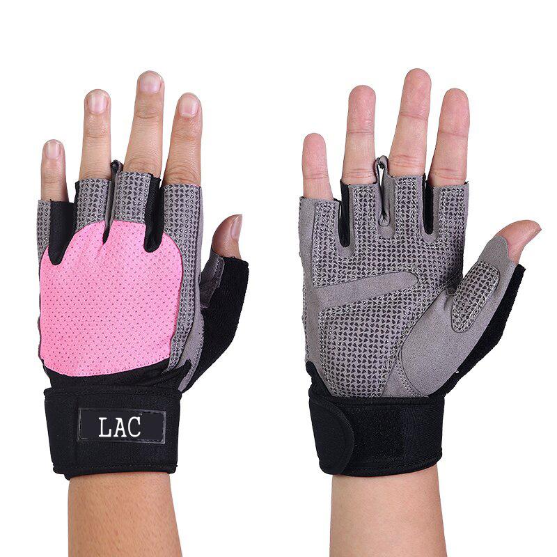 LAC Запястье половина пальцев перчатки розовый S дефолт