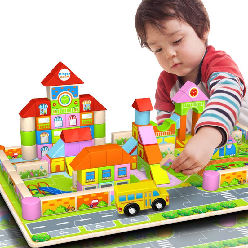 JD Коллекция 128 Детский сад строительных блоков 1 tbz дней bozhi хай тек может wang ai интеллектуальный бионический робот интеллектуальные бионические машины собака головоломки детские игрушки