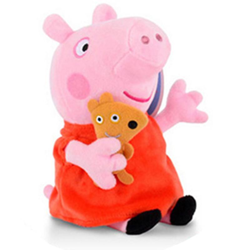 JD Коллекция 19см медведь объятие Page свиньи page peppapig 30см плюшевые игрушки peppa pig джордж грязи