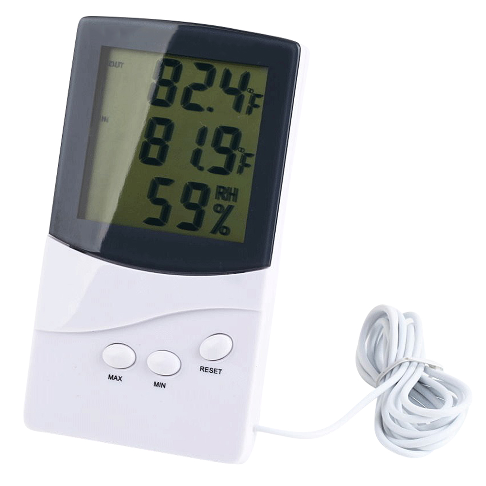 MyMei indoor outdoor lcd digital 433mhz wireless 8 channel thermo hygrometer 5 remote sensors thermometer hygrometer