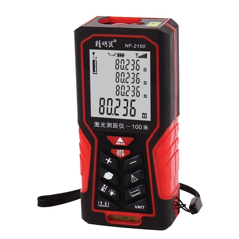 цена на JD Коллекция красный NF-2100 лазерный дальномер сто метров