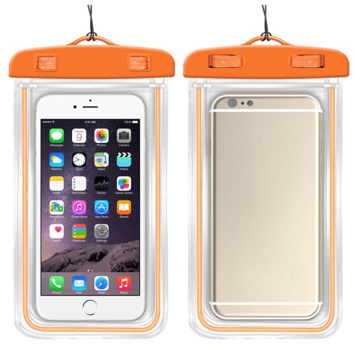 MyMei Оранжевый цвет mymei outdoor iphone 6 samsung galaxy phone waterproof case cover dry pouch 20 10 8cm