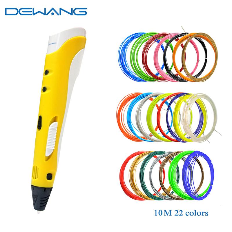 DEWANG желтый dewang factory 3d printer pen 3d printing pen kids drawing pen abs filament 100 200 meters 3d pen send from russia