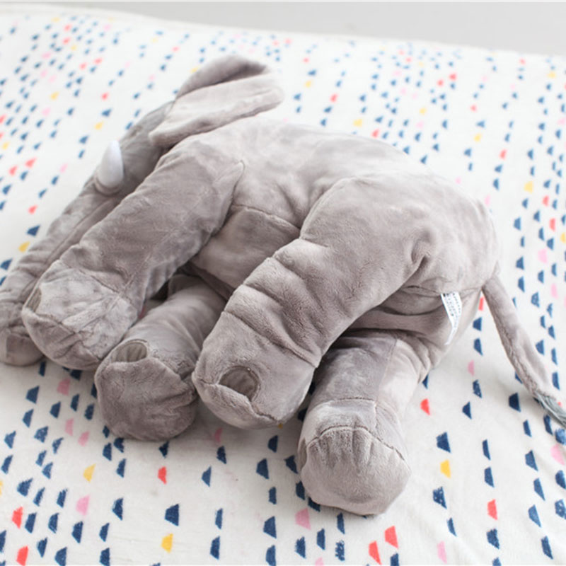 MyMei серый elephant stuffed toys lovely simulation animal children kids plush doll pillow baby gift for christmas with blanket as gift