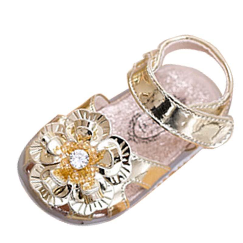 Gaorui Золотой цвет 4 ярда Чернореченский обувь для девочек лето