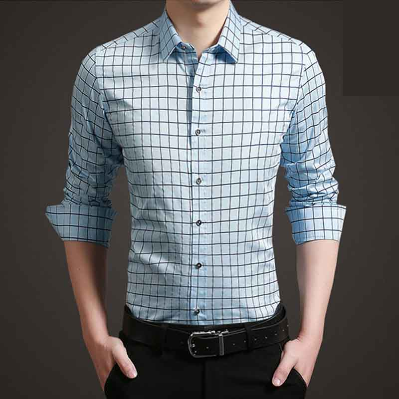 SRLD Светло-синий Номер 5XL рубашки