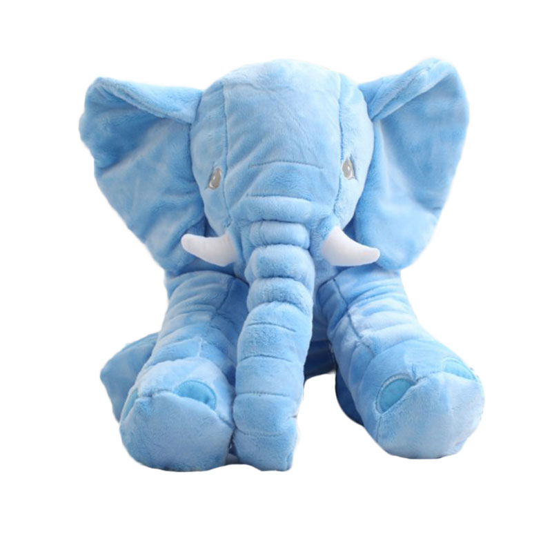 MyMei Синий цвет elephant stuffed toys lovely simulation animal children kids plush doll pillow baby gift for christmas with blanket as gift