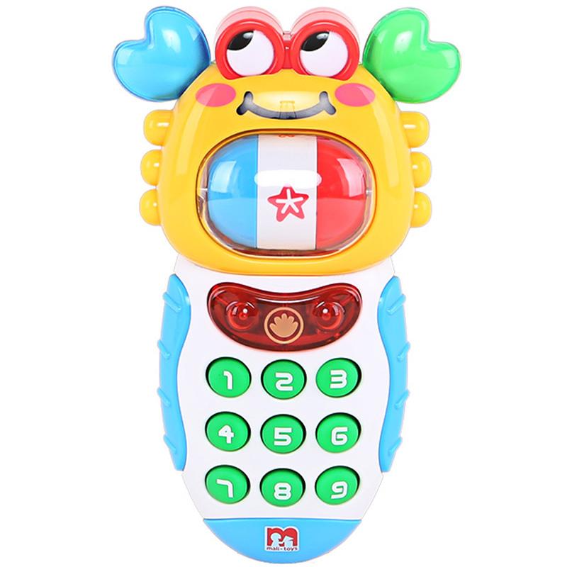 JD Коллекция Звук и свет вокруг телефона краба дефолт малибу игрушки mali игрушки развивающие игрушки fun барабан ролл барабан ударил музыкальных инструментов детские игрушки t3002