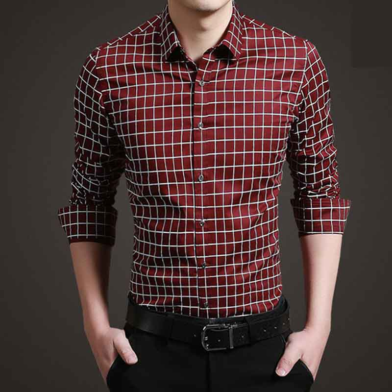 SRLD Темно-красный Номер L рубашки