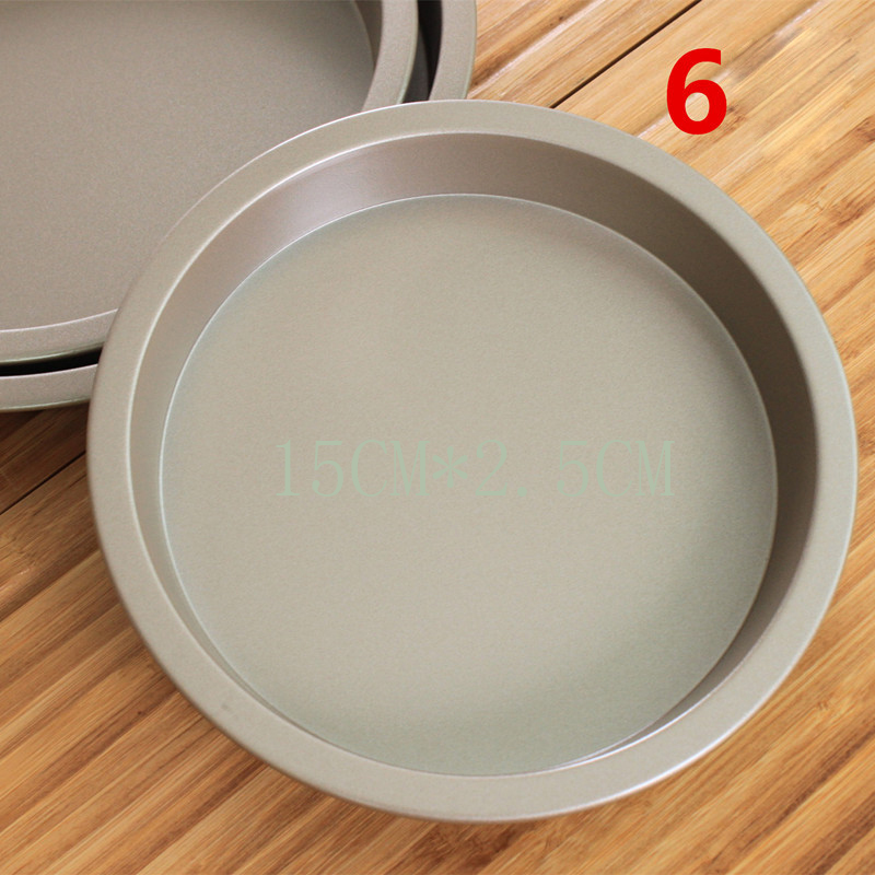 Кекс Плесень выпечка лоток раунд Кастрюля DIY выпечка инструмент Углеродистая BangLong фото