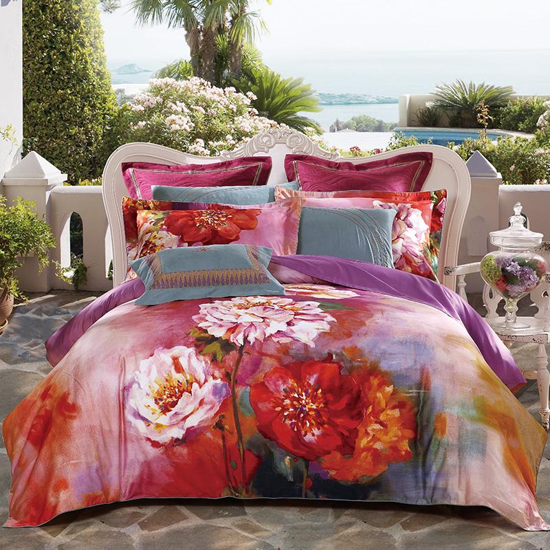 JD Коллекция стандарт 200230 mercury постельные принадлежности набор 4 штуки простыня с набивной чехол на одеяло 100% хлопок