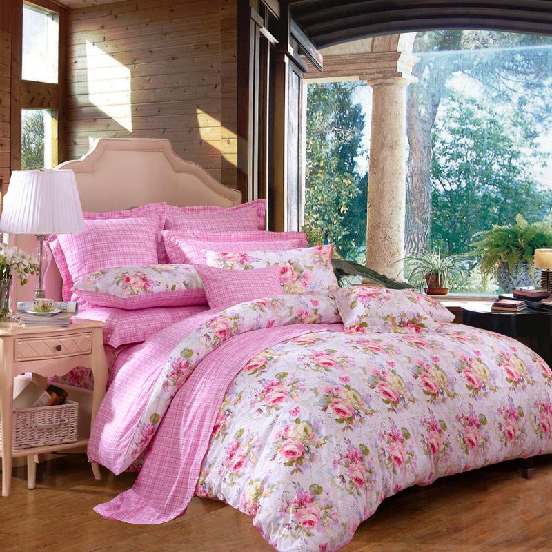 JD Коллекция Любовь \ розовый Кровать 15 м 203 229cm mercury постельные принадлежности набор 4 штуки простыня с набивной чехол на одеяло 100% хлопок
