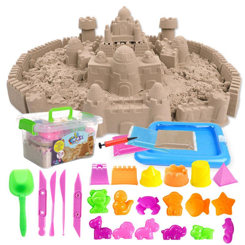 JD Коллекция 5 фунтов коробки песочного цвета для хранения пневматическая абразивная песочница дефолт peipei музыка peipeile цвет песка diy игрушки ручной работы дети играют дома игрушки глины песка песочного цвета 5 фунтов