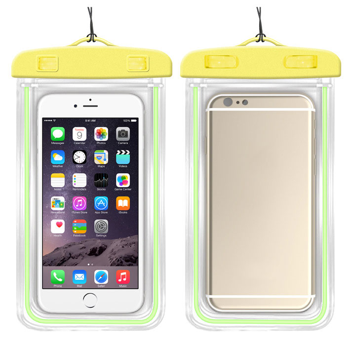 MyMei Жёлтый цвет mymei outdoor iphone 6 samsung galaxy phone waterproof case cover dry pouch 20 10 8cm