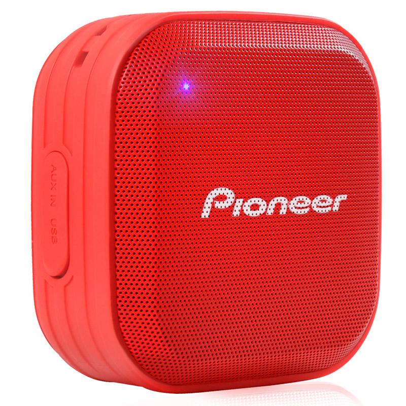 Pioneer Красный водонепроницаемый портативный стерео звук динамик bluetooth pioneer pioneer momo может впитывать большой синий