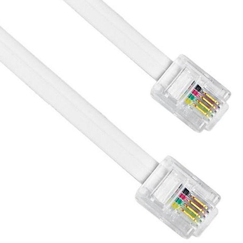JD Коллекция 4-жильный многожильных 3 м шэн shengwei 4 жильный телефонная линия для телефонных плоских нитей 10 м меди белый рафинированный 6p4c rj11 кабель tc 1100b