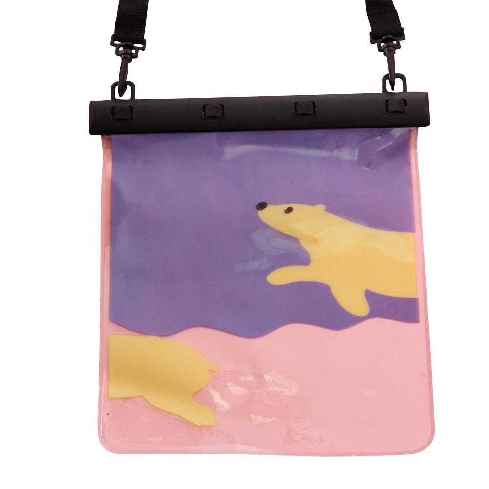 MyMei Фиолетовый цвет universal waterproof bag with lanyard for iphone cell phone black