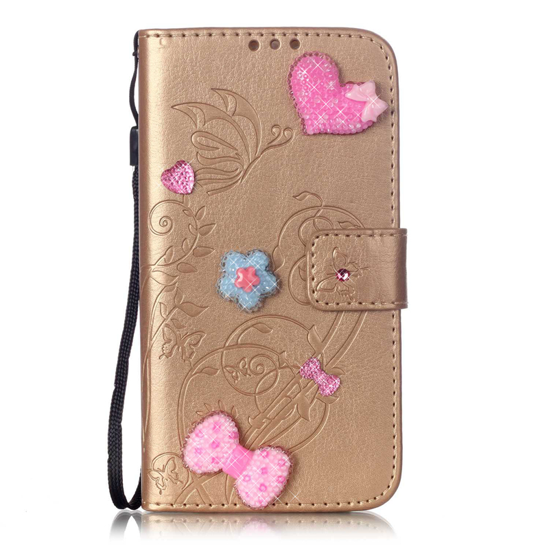 GANGXUN серый цветочного дизайна кожа pu откидная крышка бумажника карты держатель чехол для huawei y625