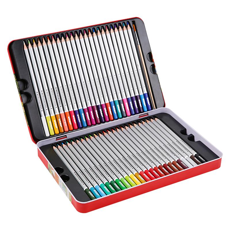 JD Коллекция железная коробка 48цветов цветные карандаши M G