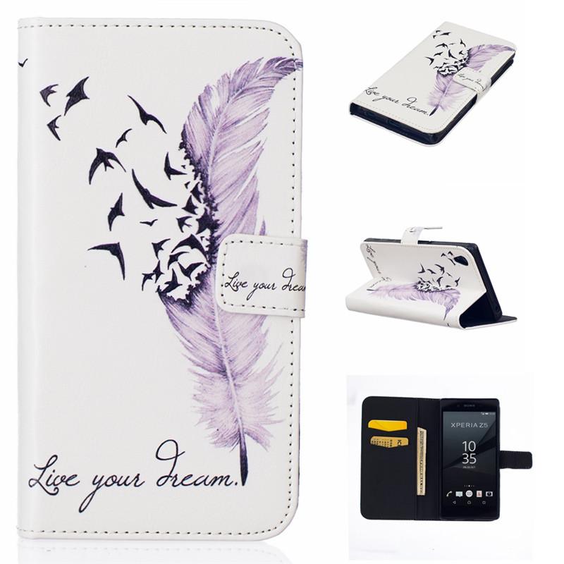 GANGXUN струи и куранты дизайн кожа pu откидная крышка карточки бумажника держатель чехол для sony xperia z5 compact mini