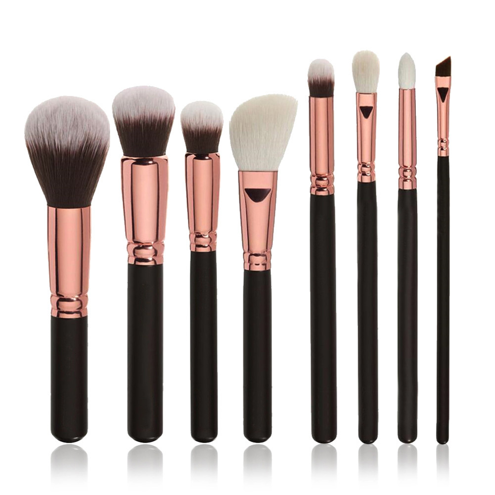 MyMei make up for you portable cosmetic makeup 7 in 1 brushes set purple