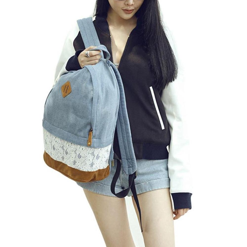 MyMei Темно-синий toposhine solid hollow out colorful little stars tassel backpack bag fashion girls school backpack bag women bag 2791