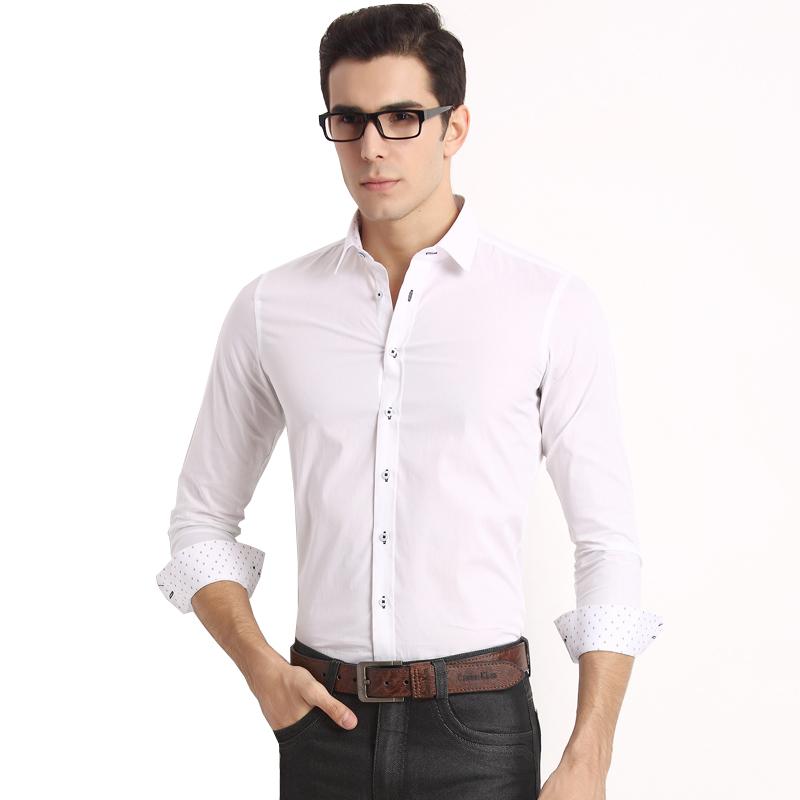 JD Коллекция W1 белый 17592A yu zhaolin с длинными рукавами рубашки мужской бизнес случайный цвет сплошной рубашки c002 темно зеленый 180 xl
