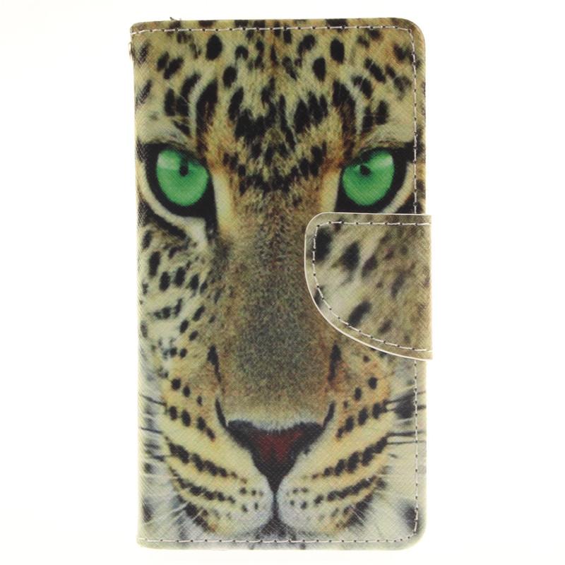 GANGXUN желтый тигр дизайн кожа pu откидная крышка бумажника карты держатель чехол для iphone 7