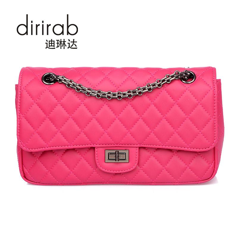 dirirab Pink marino женщина lingge цепи плечо сумка пакет милая леди элегантный черный
