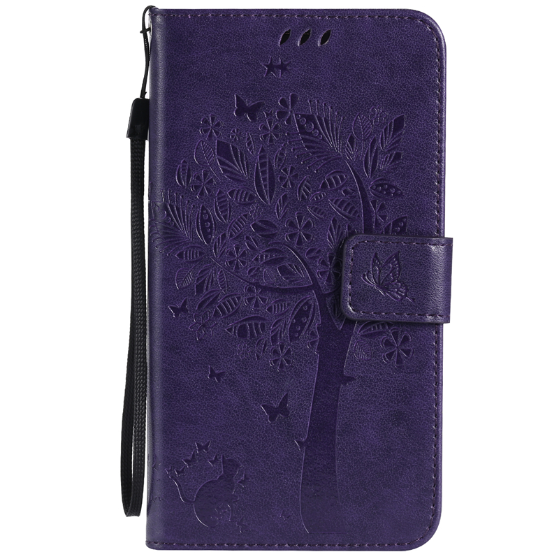 кейс для SAMSUNG A710 A72016 purple tree design pu кожа флип крышку кошелек карты держатель чехол для samsung j710