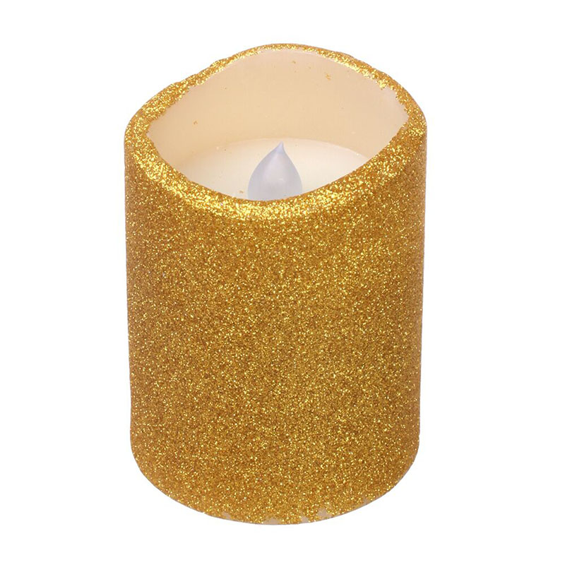 home impressions Золотой цвет dfl led pillar candles with timer flickering battery operated flameless real wax with glitter powder red 7 6x15 2 cm