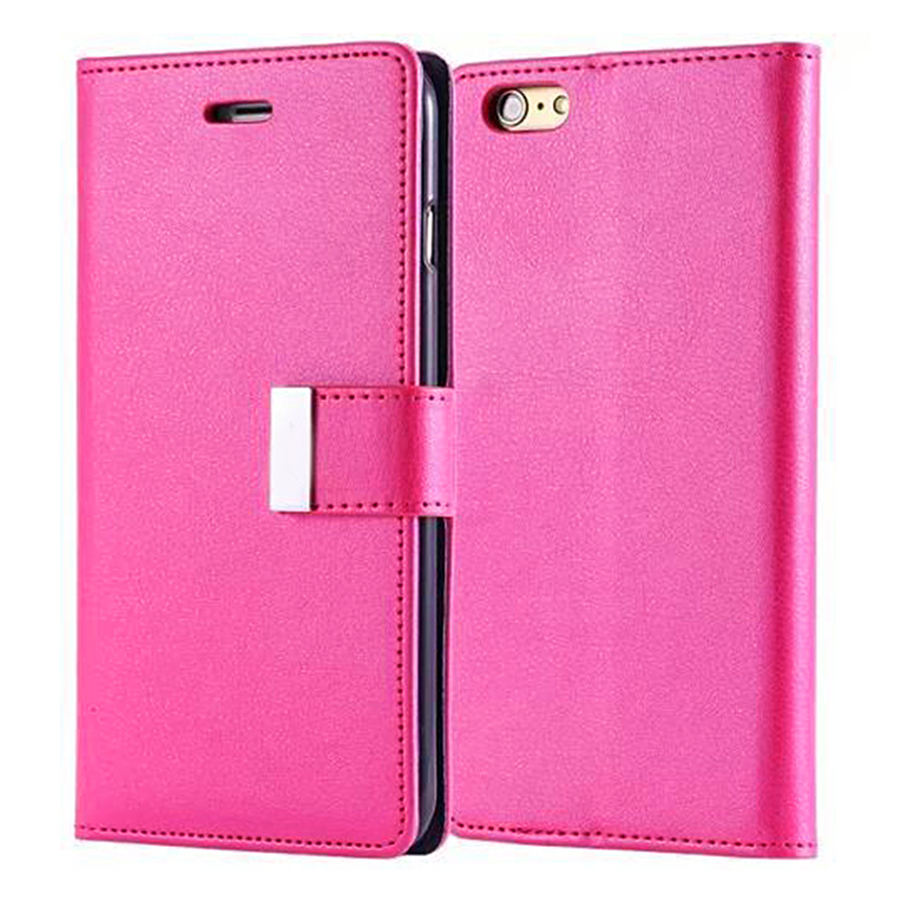 MyMei Розоловый цвет mymei new wallet flip pu leather phone case cover for iphone 6p