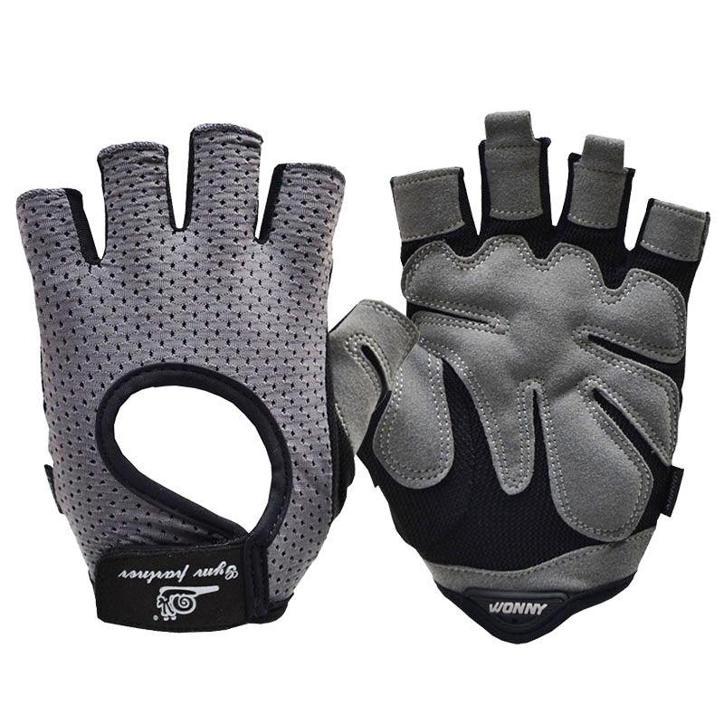 JD Коллекция серый M перчатки без пальцев шерстяные с рисунком бордо