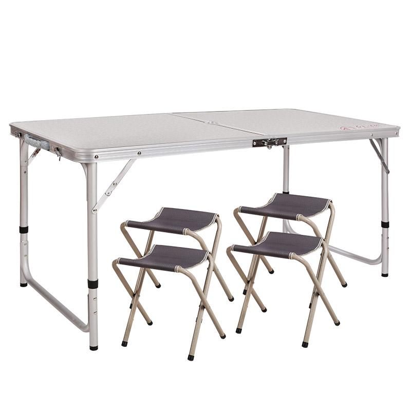 JD Коллекция По умолчанию 1 стол 4 стул белый 120 60 555 685 см