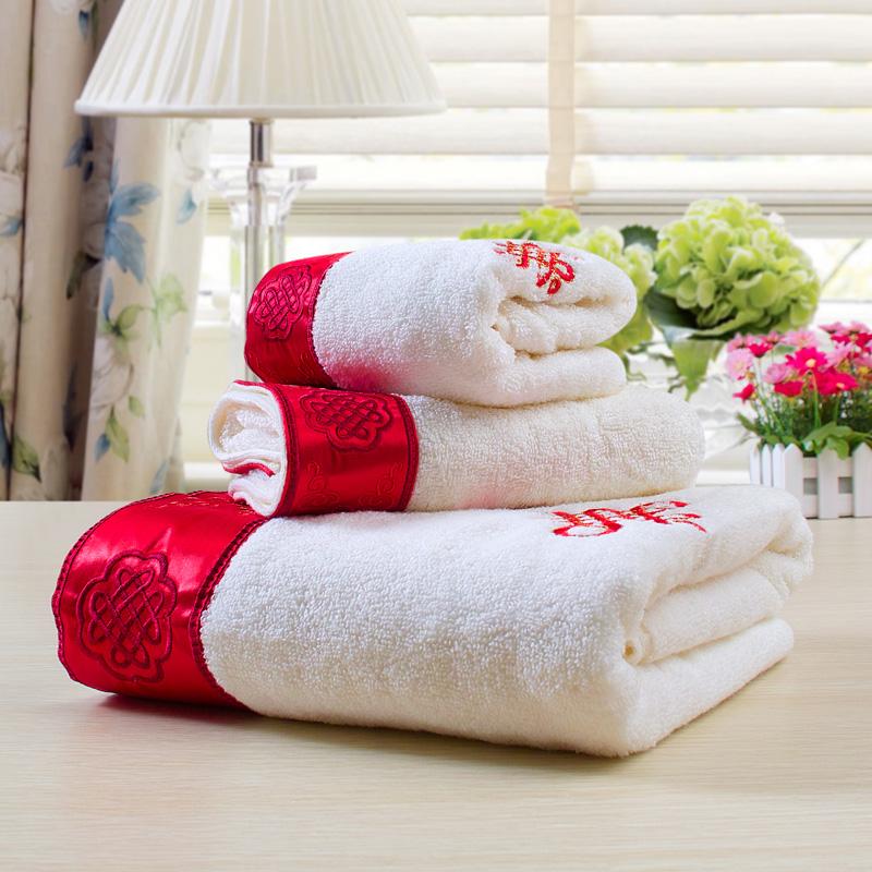 JD Коллекция Обертывание красным полотенце набор хлопок 1017235