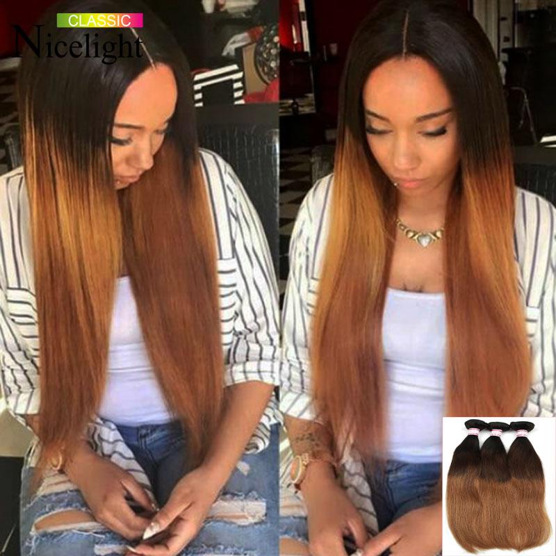 Малайзийские волосы Virgin прямые NICELIGHT CLASSIC T1B 427 20 22 24 фото